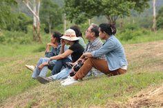 Visitors at Kuiburi national park, Thailand