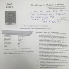 We are proud of our student who has passed their CISCO switch exam. CompTIA, CCNA CCNP,Certification ,success ,network ,security