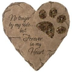 "This is a fabulous memorial gift for any pet lover who is missing their furry friend.  The beads add a splash of style for indoors, yet are durable enough for outside as well.      Verse reads: ""No longer by my side... but Forever in my Heart.""    For our Babe"