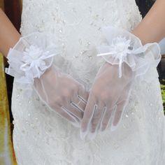 transparent wedding gloves