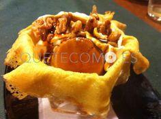 Filloa rellena de flan de queso, nata y nueces | Restaurante marisquería Cervecería La Marina en A Coruña