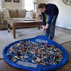 Lay-n-Go | Products  Play mat that holds toys pull string and it's clean! Genius! Yes you can play with your Legos!