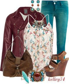 """Colored Jeans for Spring"" by kelley74 ❤ liked on Polyvore"