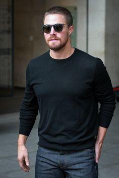 #FerragamoVIP   #TMNT2 star Stephen Amell wears #Ferragamo sunglasses in London. http://Ferragamo.com