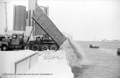 It's going to take a few more truckloads to clear up this mess, blizzard of 1978, Detroit.