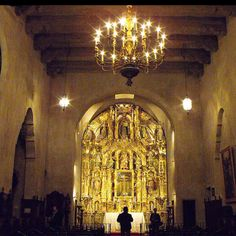Inside St. Francis Chapel in Riverside California