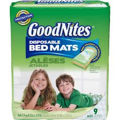 Goodnites - Disposable Bed Mats Jumbo Pack, 9 count
