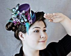 Purple Mini Top Hat Mini Top Hats Purple by LittleMissHattitude
