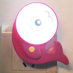 [$1.84] Fish Shape Energy Saving LED Night Light with Switch, EU Plug (Magenta)