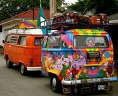 OWO Vintage VW Camper with a re-purposed vintage VW van/trailer! Volkswagen Bus, Vw T1, Volkswagen Beetles, Vw Camping, Glamping, Bugs, Love Vintage, Combi Vw, Hippie Life