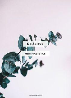 5 Hábitos minimalistas