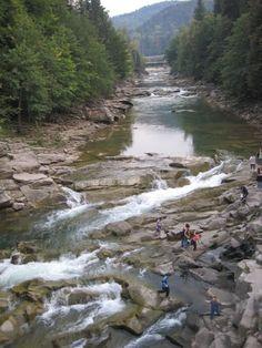 Rapids Carpathian Mountains, Western Ukraine.