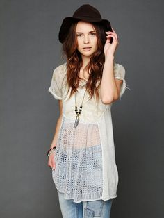 Free People Pieced Floral Print Tunic  http://www.freepeople.com/whats-new/pieced-floral-print-tunic/_/productOptionIDS/12B8C951-1A20-4EE1-BF90-10C3E51E5A64/