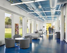 Motivated to provide vital education, recreation and training services to the underserved citizenry of Newark, New Jersey, the Newark Housing Authority aspir. Corporate Interiors, Office Interiors, New Jersey, Glass Facades, Education Center, Bespoke Design, Play To Learn, Interior Walls, Ikon