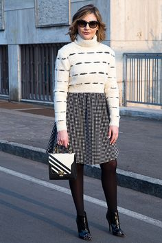 cropped fluffy sweater fashion blogger outfit (2)