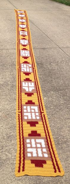 i would love one of these if they came a weensy bit shorter..lol    Extra Long Videogame Scarf by GotchaCoveredbyDZS on Etsy, $99.00