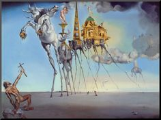salvador dalí - the temptation of st. anthony (Surrealisme)(1946)
