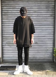 Get this look: http://lb.nu/look/8710735  More looks by Masaki: http://lb.nu/user/5916669-Masaki  Items in this look:  Kollaps ⏩ Fragile.Osaka Noise Music 実験音楽, Ch. Oversized, H&M Skinnyjeans, Dr. Martens Allwhite 8hole   #minimal #rock #punk #street #edgy #alternative #normcore #black #blackonblack
