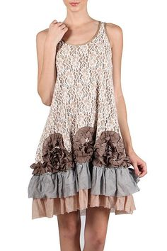 Plus Size Boho Chic Floral Embroidered Dress