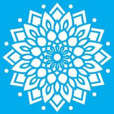 Stencil Litoarte 42,2x32 STW-038 Mandala - PalacioDaArte Simple Mandala, Paper Cutting, Ornaments, Fun, Instagram, Ideas, Simple Paintings, Haberdashery, Block Prints