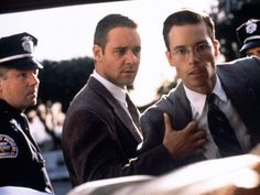 L.A. Confidential. Russell Crowe y Guy Pierce