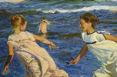 Corriendo por la playa (detalle). Joaquín Sorolla. Museo de Bellas Artes de Oviedo.