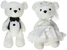 Enesco Insignia Bride and Groom Bears Plush 95 * Details can be found by clicking on the image.