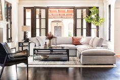 Fall in love with the warmth & charm of our Villa Sonoma collection - for homes that crave neutral tones, rustic textures & handsomely crafted pieces. Come home to the plush comfort of our featured Haven Sectional. #LivingSpaces  #VillaSonoma