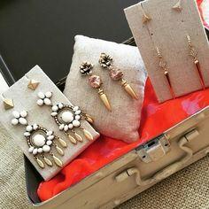 Earrings in Studs & Chandeliers by Stella & Dot. So many versatile options!