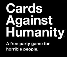 Download a free PDF and make your own Cards Against Humanity!
