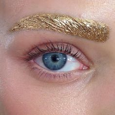 Gold brows: my two favorite things.