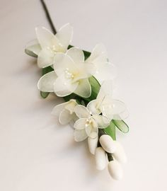 Ivory White Amaryllis Flowers Stem Nylon Flowers for by JJnKo
