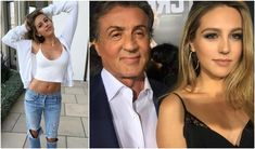 Sylvester Stallone with daughter Sophia Stallone