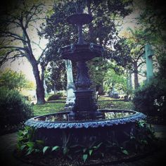 Fountain at Mount Holly Cemetery in Little Rock.