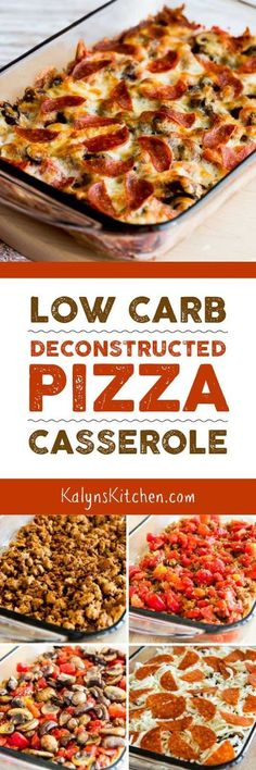 If you're trying to get back on track with carb-conscious eating AND looking for dinner ideas the family will eat, this Low-Carb Deconstructed Pizza Casserole is delicious and it's the perfect low-car (Paleo Casserole Recipes) Low Carb Pizza, Low Carb Diet, Paleo Diet, Pizza Casserole Low Carb, Keto Diet Meals, Vegan Keto, Diet Snacks, Calorie Diet, Ketogenic Recipes