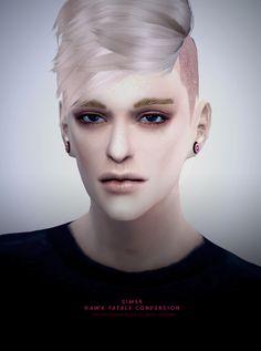 Hawk fatale males hair conversion at Black-le via Sims 4 Updates