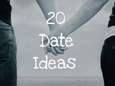20 Fun Date Ideas... cute idea's if you're on a budget!