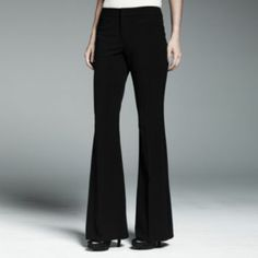 Catherine Malandrino for DesigNation Flare-Leg Trouser Pants