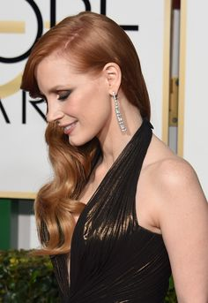 Jessica Chastain: Here's a side view of Jessica's stunning look — talk about smoky eye shadow inspiration!
