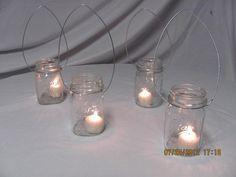 Mason Jar Lanterns.  Uniquely Yours Wedding Design