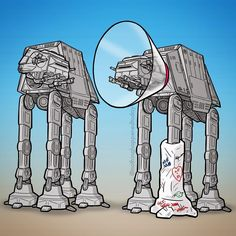 Wounded AT-AT | Star Wars