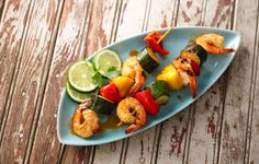 Taco Seasoned Shrimp Kabobs: Fire up your grill for some tasty shrimp kabobs. With a hot grill, you can serve dinner in just 30 minutes!