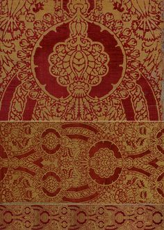 Italian Textile.One of the great masterpieces of Late 15th century Italian cut velvet.