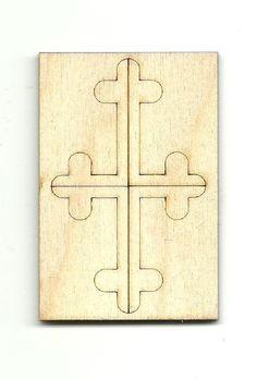 Cross Unfinished Laser Cut Wood Shape REL39