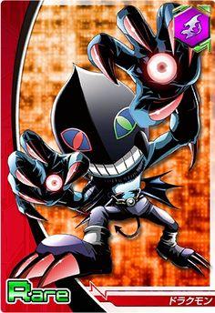 Dracumon Digimon Crusader card