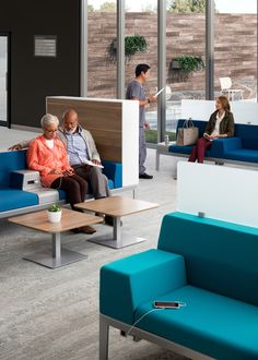 Well-designed waiting experiences that decrease stress and promote active engagement can help improve patient satisfaction scores both during waiting and subsequent care encounters. Waiting Room Design, Waiting Area, Waiting Rooms, Lobby Furniture, Outdoor Furniture Sets, Active Engagement, Clinic Interior Design, Basin Design, Hospital Design