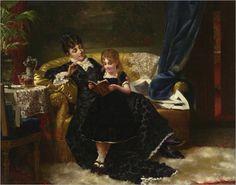 Portielje_Jan_FrederiK_Pieter_Reading_Together_1a