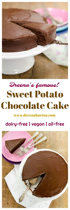 sweet potato chocolate cake | healthy dessert recipes | vegan dessert recipes | dairy-free dessert recipes | oil-free dessert recipes | vegan cake recipes | dairy-free cake recipes | homemade vegan desserts || Plant Powered Kitchen