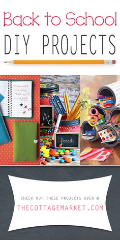 Back to School DIY Projects - The Cottage Market #BackToSchoolDIYProjects, #BackToSchool