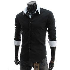 Slim Fit 2 Tone Dress Shirt